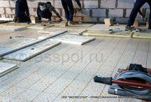 Стяжка пола и вироукладка плитки - фото / Наши работы, фото работ полусухая стяжка пола и виброукладка плитки