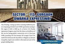 Tata Gurgaon Gateway / Tata Gurgaon Gateway - one of the finest residential projects from Tata Housing, located in sector 112 & 113 Gurgaon on Dwarka Expressway, spread over 36 acres of land comprising 6 towers, houses 2 BHK & 3 BHK apartments.