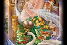 3 - The Empress Tarot card / Number 3 - Gaia, Mother nature, motherhood, Venus, the art, beauty, expansion, abundance, fertility