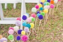 decoracion con pompones