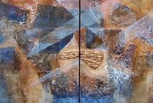 Schilderijen van Thecla / Abstracte kunst op doek
