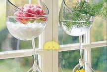 szklane wazoniki