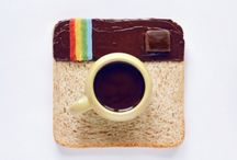 macchina fotografica con cibo