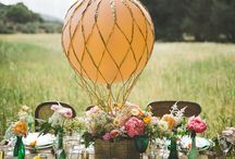 """""""Come Fly Away With Me"""" Hot Air Balloon Wedding / I LOVE hot air balloons despite never being on one (One day!) For a fun and quirky wedding theme why not use balloons and create your very own hot air balloons! It's such a fun wedding theme and looks amazing in pictures! Your guests will love them too!"""
