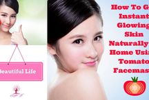 How To Get Instant Glowing Skin Naturally At Home Using Tomato Facemask
