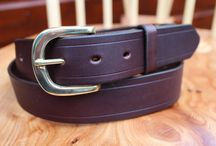Handmade Leather Belts / Leather belts that I have made