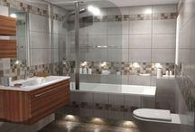 ΔΙΑΧΡΟΝΙΚΗ ΑΠΛΟΤΗΤΑ / Σχέδια μπάνιου σε αποχρώσεις του μπέζ, βασισμένα στα πλακάκια από την σειρά July σε απομίμιση μαρμάρου.