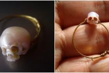 Carves Tiny Oyster Pearls Into Intricate Tiny Wearable Skull Sculptures / If skulls aren't your year-round favorite, that's understandable. However, with Halloween right around the corner, this skull jewelry may be exactly what you need. Shinji Nakaba is the artist behind these intricately designed skulls carved out of pearls.