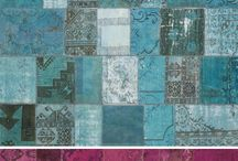 Recycled patchwork rugs