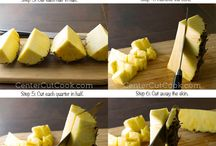 How to cut fruit - Pineapple, watermelon etc