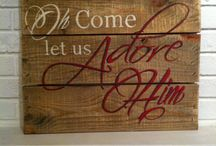 I come let us adore him sign