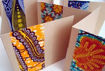 African inspired greeting cards