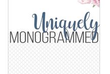 uniquely monogrammed