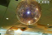 Glitter and Confetti Balloon Decor / Glitter and Confetti balloons are a dazzling way to decorate an event!  Want more? Visit www.balloonsbytommy.com