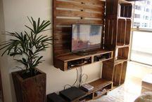 muebles para tv con palets