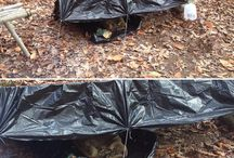 Survival:  Shelter / Various types of primitive, modern and improvised shelters.  #survival, #primitive, #shelter