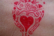 Red Sharpie Moments / I have a friend that always has a red sharpie on hand.  When I see this red sharpie I am compelled to decorate my hand with it.  Don't know why.....I just obey.  More to come I am certain. LOL / by Amy Huber-Fees