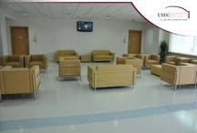 Upgraded Emergency Dept at University Hospital Sharjah / University Hospital Sharjah has completed significant improvement to its emergency department, particularly the reception, waiting area and triage in order to provide much improved services to the anticipated 50,000 patients; it plans to see in 2015 through the emergency department.