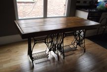Sewing machine table iron