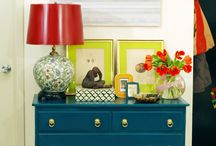 Caroline's Navy and Green and Coral Room / ideas