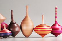 Toy Wooden Spinning Tops