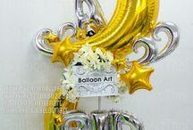 foil balloons sculptures