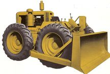 LeTourneau wheeled bulldozer LW12
