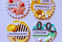 Handmade Embellishments! / Bored with your embellishments? Make your own! Get your scraps and get punching and mixing!