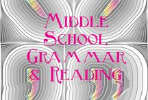 Middle School Grammar and Reading / middle school reading, middle school grammar