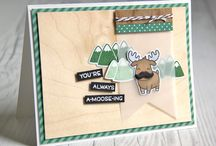 Cross Promotions - Lawn Fawn / We have 2 collabs coming your way this month with our friends over at Lawn Fawn! We want to introduce you to the cute stamps Lawn Fawn offers and to show how great they work on our BARC Wood paper!