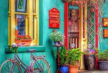 renkli ev