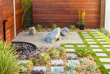 Garden / Ideas for a hard surface zen garden