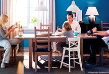 Poftă bună / Ingredientele secrete ale unei mese perfecte sunt prietenii și conversațiile savuroase. Nu trebuie să uităm totuși nici de farfurii, pahare, șervețele, scaune... ce ar mai fi? / by IKEA Romania