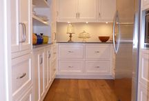 Walk In Pantry / We design & build custom inset cabinets for homeowners across Canada & the USA.  www.wesleyellen.ca   1.888.309.0616