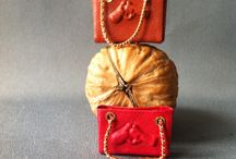 Miniature bags 1:12 / Dollhouse miniature 1:12 genuine leather bags (sunk.cost.fallacies@gmail.com)