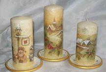 decoupage świeczki