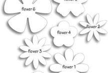 plantillas de flores de papel