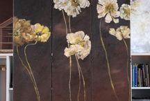 måla blommor
