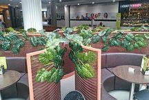 Cafe plants and foliage