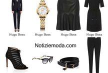 Hugo Boss / Hugo Boss collezione e catalogo primavera estate e autunno inverno abiti abbigliamento accessori scarpe borse sfilata donna.