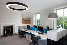 XL Office Lighting Project / The Building was a protected structure so the internal lighting was unable to feature recessed fitting into the ceiling. We used Prolicht Glorious fittings throughout office to give an eco-friendly LED based lighting system that offers generous lighting that was not only unique but very subtle. The Prolicht feature had the dual effect of emphasising the buildings existing unique architecture and adding a modern feel to the office space.