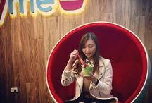 Berryme Enthusiasts! / Happy customers with a joyful cup of berryme froyo!