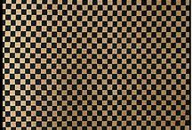 """Print  :  Parquets & Carrelages / & Imprimables à réduire pour miniature au 1/12ème - Maisons de poupées  * Reduce to a printable miniature : Floor tiles, Floor """"parquet"""", wall tiles *"""