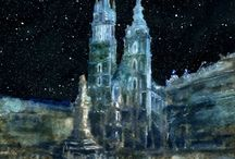 Cities in art by Witold Kubicha /  Cities in my painting and drawing.