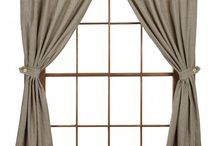 """Pattern: Ava Black / Ava Black Panels - 63"""" features black & tan gingham mini-check. Lined panel with 2"""" rod pocket. 100% Cotton with lace edging. Dry Cleaning recommended. Measures 72""""W x 63""""L. #country #panel #curtains  / by Piper Classics"""