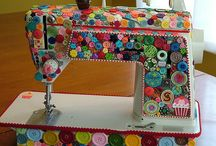 Decorated sewing machine / Buttons