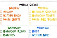 Stuff / Weekly cleaning schedule