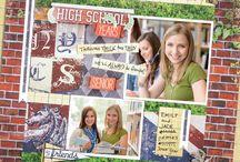 Scrapbook: School Scrapbooking / School graduation, school pages