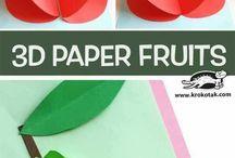 Fruit 3d en papier