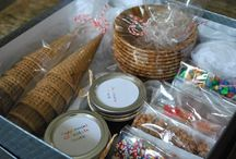 Love this DIY ice cream sundae kit as a care package or gift! / by Teresa Amburgey
